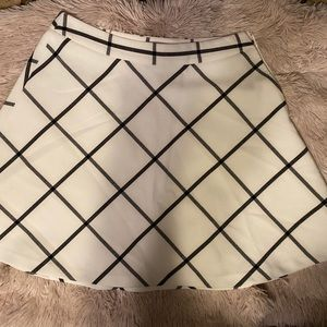LOFT Outlet Windowpane Skirt, size 8
